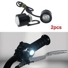 2Pcs Spotlight Headlight LED Motorcycle Handlebar Driving Light Fog Lamp White