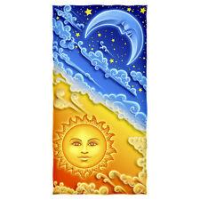 Brand New 100% Cotton Sun And Moon Shower/Beach Towel