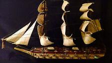 ALL WOOD SHIP 1780-OLD FRAGATA ESPANOLA 35 INCHS LONG & 23 INCHS TALL $399.89