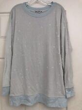 "Wildfox ""Starry Night"" 🌟 Stars Roadtrip Sweater dress Pullover XSmall Oversized"