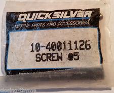 New Old Stock Quicksilver 10-40011126 @5 (Oty-5) Mercury Mariner SS Screws M6x13