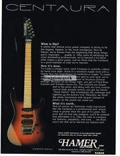 1991 Hamer Centura Electric Guitar Magazine Ad