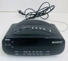 Sony Dream Machine Alarm Clock Radio AM FM Green LED Display 9V Battery Backup