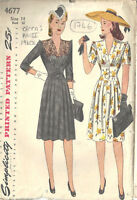 "1940s WW2 Vintage Sewing Pattern B32"" DRESS (1746)"