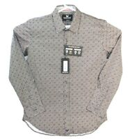 Buttercloth Button Up Shirt Mens Large Long Sleeve Geometric New NWT