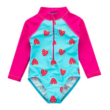Wishere Baby Girl One-Piece Swimsuit Sunsuit Rash Guard
