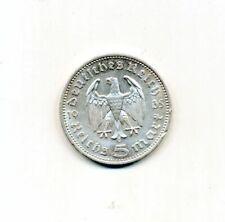 Germany - 1935 Third Reich 5 Reichsmark A KM# 83 Silver Coin 3