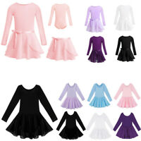 UK Girls Ballet Dance Leotard Tutu Dress Kid Skirt Gymnastic Ballerina Dancewear
