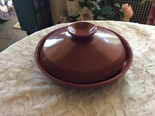 FRANKOMA POTTERY~DUSTY ROSE PINK~TORTILLA KEEPER OVEN WARMER WITH LID #266