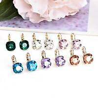 HOT Sale Christmas Gift Fashion Austrian Crystal Rhinestone Ear Stud Earrings