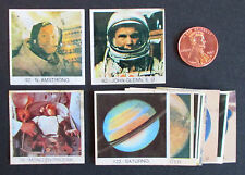 11 RARE 1980s NASA Space Program Cards/Stickers Mexico NEIL ARMSTRONG JOHN GLENN