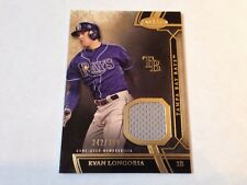 Evan Longoria 2015 TOPPS Tier One Game Used JERSEY CARD #/399 Tampa Bay Rays
