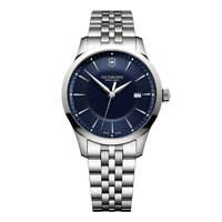 Victorinox Swiss Army Men's Watch Alliance Blue Dial Silver Tone Bracelet 241802