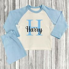 Personalised Boys Baby Childrens Initial Pyjamas Any Name 6 Months - 8 Years