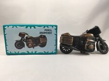 Miniature Motorcycle Antique Finish Die Cast Pencil Sharpener w/Box