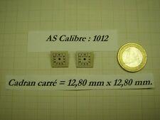 LOT DE 2 CADRANS CARRÉS VINTAGES NEUFS DE STOCK POUR CALIBRE A.SCHILD  AS 1012