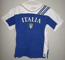 FM ITALY youth med T shirt soccer size 9-10 tee shield Italia National Football