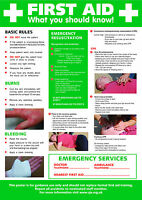 Health and Safety Frist Aid A2 POSTER / SIGN Ref: HS101 420 x 594mm