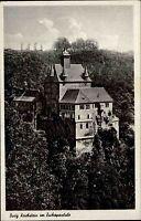 Kriebstein Sachsen Zschopautal AK ~1940 Brück & Sohn Burg Festung Schloß Bauwerk