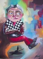 "OSMEL Fernandez Estevez 4E Original CUBAN Art Painting Signed Cuba 11.5x15.5"""