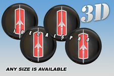 OLDSMOBILE ROCKET wheel center cap decals emblems stickers 4 pcs :Any size: