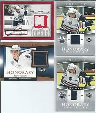 Ales Hemsky  All-Different  4-Lot  GU Jersey's w/Trilogy 2-Color Swatch