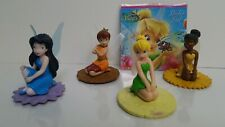 Disney Tinkerbell Fairies Friend Figures Cake Topper Stamp Pad Lot of 5 See Pic