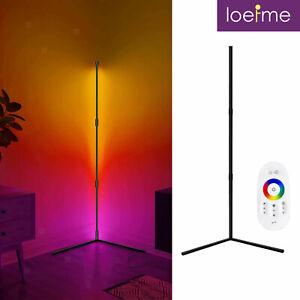 ⭐⭐⭐⭐⭐ LED Design Stehlampe Ecklampe Deckenfluter RGB mit Fernbedienung Stehende
