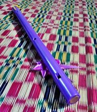 Violet Flute Pvc Pipe Woodwind Handmade Tradition Music Good Sound Thai Heritage