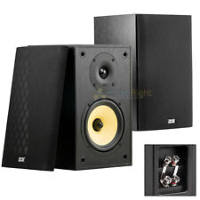 "6.5"" Bookshelf Home Theater Speakers 100W RMS DCM MTX Audio TP160S-B 2 Pack"