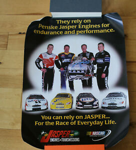 "Jasper Engines w/Ryan Newman, Rusty Wallace -Penske - 2001 NASCAR Poster 18""x24"""