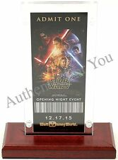 NEW Walt Disney World Star Wars The Force Awakens Opening Night Event Ticket