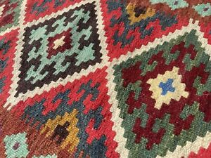 Afghan Handmade Tribal Nomadic Natural Wool Multicoloured Kilim 94x68cm