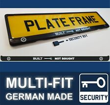 BUILT not BOUGHT Custom Self Made Sticker Sign Badge Number Plate Holder Frame