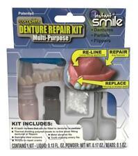 COMPLETE DENTURE REPAIR & RELINE TEETH KIT & 2 EX PKG BEADS fix your dentures
