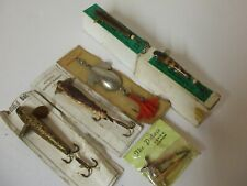 6 off Vintage Fishing Lures in original packaging   **  Rare N.O.S. **
