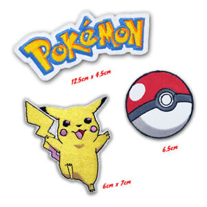Pokemon game cartoon badges collection Iron or Sew on Embroidered Patch