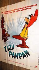 ZIZI PANPAN le nain et la sorciere ! affiche cinema animation erotique 1973