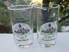 2 Beer Taster WINE GLASSES ~ Weingut Klostergarten ~ Cochem - Mosel, GERMANY