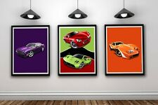 Hot Wheels Girls Boys A4 Gaming Set Of 3 Wall Art Print Bedroom Posters Gift