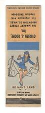 O'Brien & Roche Brighton MA Sexy Pin-Up Girl Vintage Matchbook Cover B93