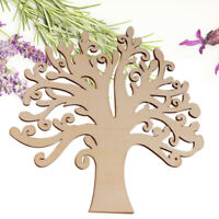 Wooden Autumn Tree Shape Craft Blank Wedding Guestbook Decoupage Family Gift