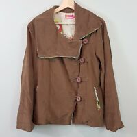 [ BOOM SHANKAR ] Womens Brown Light Corduroy Jacket  | Size AU 14 or US 10