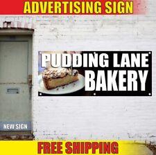 Bakery Advertising Banner Vinyl Sign Flag Pudding Lane Restaurant Cafe Bar Food