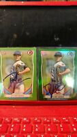 Dylan Cease first Bowman chrome and paper autograph cards