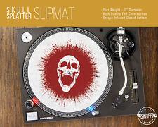 """Skull Splatter Turntable Slipmat - 12"""" LP Record Player, Blood DJ Slipmat"""