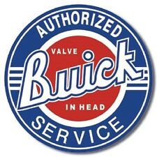 Authorized Buick Service  Round Metal Tin Sign Wall Art