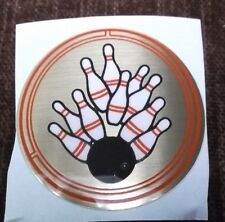 "wholesale lot of trophy parts 177 red black & gold bowling  inserts 2"" diameter"