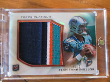 2012 TOPPS PLATINUM RYAN TANNEHILL SICK 4 COLOR ROOKIE PATCH CARD /71
