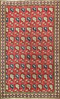 Geometric Semi Antique Handmade Traditional Area Rug Wool Oriental Carpet 3x4